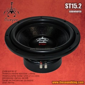 Subwoofer Scorpion Audio ST15.2
