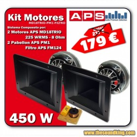 APS - KIT MOTORES MD18TRIO + PABELLON PM1 + FILTRO FM124