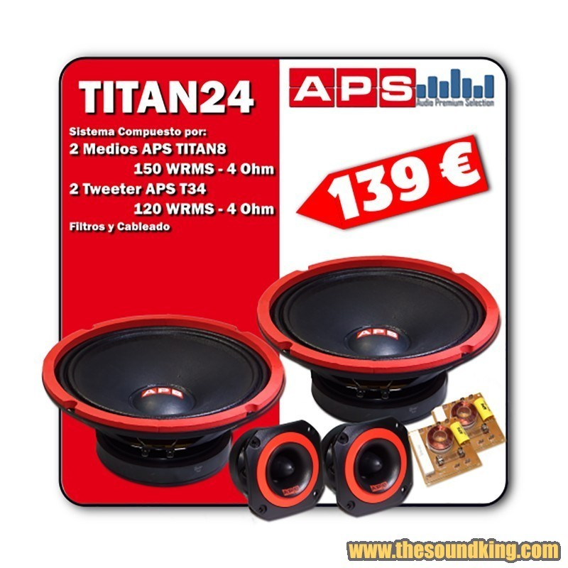 Kit APS TITAN 24 - Sistema 2 Vias