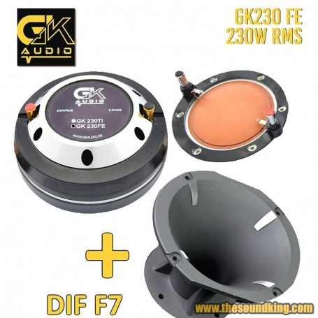 Trompeta GK Audio GK 230 FE + DIFUSOR F7