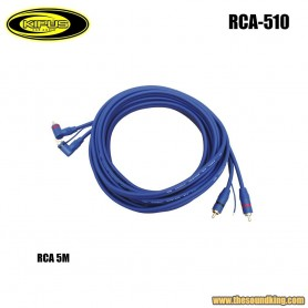 Cable RCA 5m acodado Kipus RCA-510