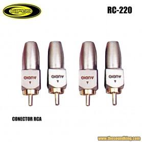 Conectores RCA Kipus RC-220