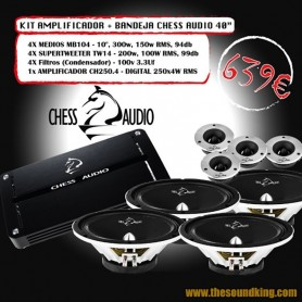 Chess Audio Pack Amplificador + Bandeja 40