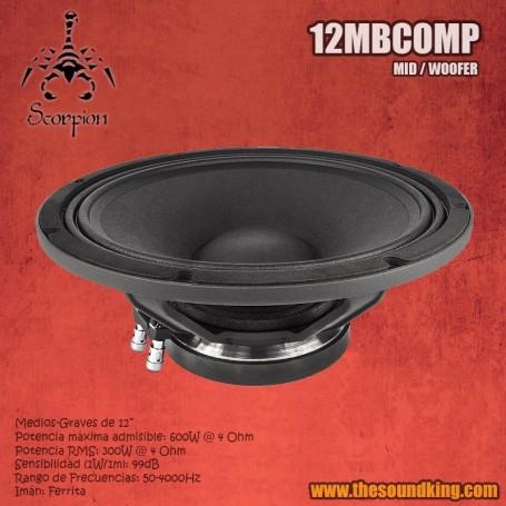 Altavoz Scorpion Audio 12MBCOMP