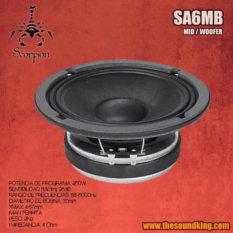 Altavoz Scorpion Audio SA6MB