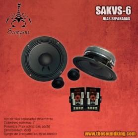 Vías separadas Scorpion Audio SAKVS-6